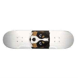 Illustration Bernese Mountain Dog Custom Skateboard