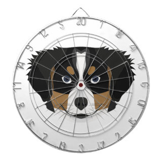 Illustration Bernese Mountain Dog Dartboard
