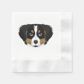 Illustration Bernese Mountain Dog Disposable Napkin