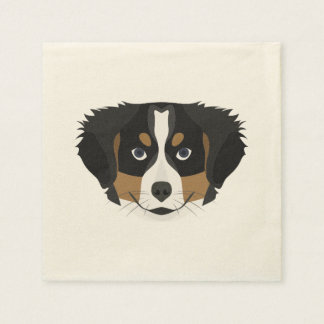 Illustration Bernese Mountain Dog Disposable Napkins