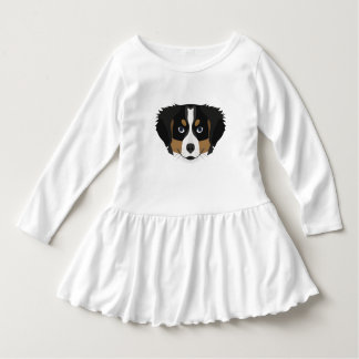 Illustration Bernese Mountain Dog Dress