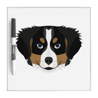 Illustration Bernese Mountain Dog Dry Erase Board