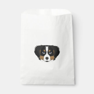 Illustration Bernese Mountain Dog Favour Bag
