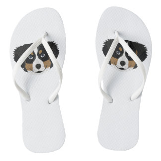 Illustration Bernese Mountain Dog Flip Flops