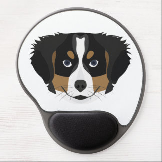Illustration Bernese Mountain Dog Gel Mouse Pad