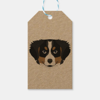 Illustration Bernese Mountain Dog Gift Tags