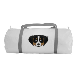 Illustration Bernese Mountain Dog Gym Bag