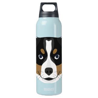 Illustration Bernese Mountain Dog Insulated Water Bottle