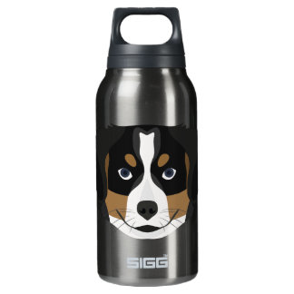Illustration Bernese Mountain Dog Insulated Water Bottle