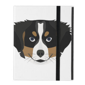 Illustration Bernese Mountain Dog iPad Case