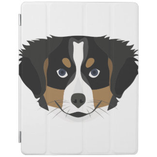 Illustration Bernese Mountain Dog iPad Cover