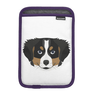 Illustration Bernese Mountain Dog iPad Mini Sleeve