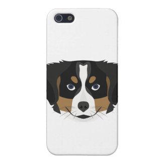 Illustration Bernese Mountain Dog iPhone 5/5S Cases