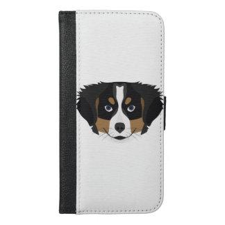 Illustration Bernese Mountain Dog iPhone 6/6s Plus Wallet Case