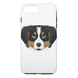 Illustration Bernese Mountain Dog iPhone 8 Plus/7 Plus Case