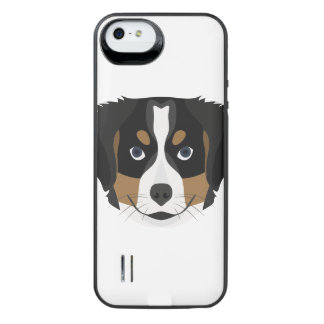 Illustration Bernese Mountain Dog iPhone SE/5/5s Battery Case