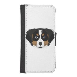 Illustration Bernese Mountain Dog iPhone SE/5/5s Wallet Case