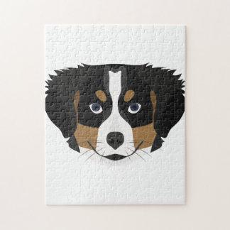 Illustration Bernese Mountain Dog Jigsaw Puzzle