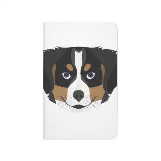 Illustration Bernese Mountain Dog Journal