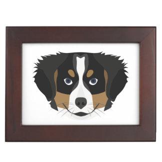 Illustration Bernese Mountain Dog Keepsake Box