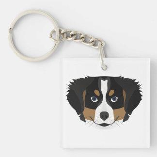 Illustration Bernese Mountain Dog Keychain