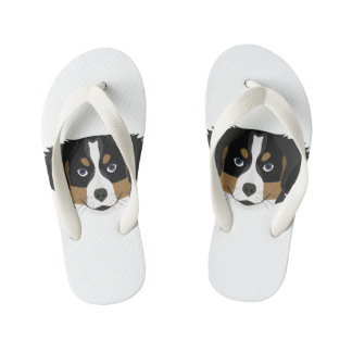 Illustration Bernese Mountain Dog Kid's Flip Flops