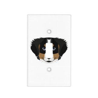 Illustration Bernese Mountain Dog Light Switch Cover