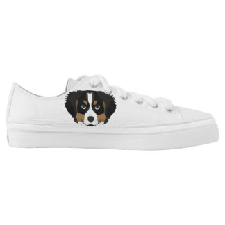 Illustration Bernese Mountain Dog Low-Top Sneakers
