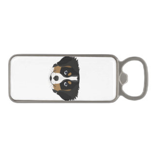 Illustration Bernese Mountain Dog Magnetic Bottle Opener