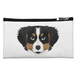 Illustration Bernese Mountain Dog Makeup Bag