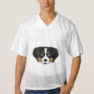 Illustration Bernese Mountain Dog Men's Football Jersey
