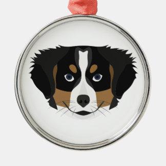 Illustration Bernese Mountain Dog Metal Ornament