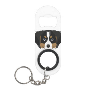 Illustration Bernese Mountain Dog Mini Bottle Opener