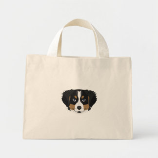 Illustration Bernese Mountain Dog Mini Tote Bag