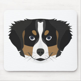 Illustration Bernese Mountain Dog Mouse Pad