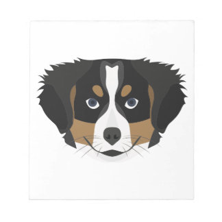 Illustration Bernese Mountain Dog Notepad