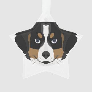 Illustration Bernese Mountain Dog Ornament