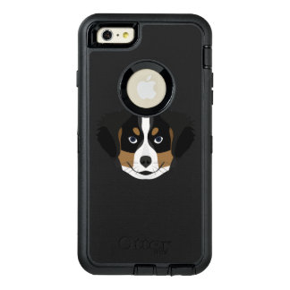 Illustration Bernese Mountain Dog OtterBox Defender iPhone Case