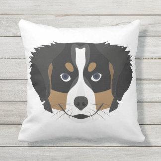 Illustration Bernese Mountain Dog Outdoor Pillow