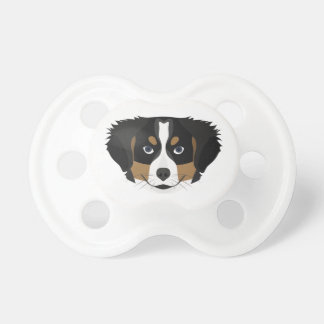 Illustration Bernese Mountain Dog Pacifier