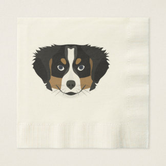 Illustration Bernese Mountain Dog Paper Napkins