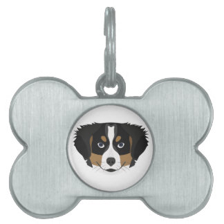 Illustration Bernese Mountain Dog Pet ID Tag