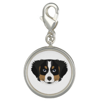 Illustration Bernese Mountain Dog Photo Charms