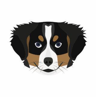 Illustration Bernese Mountain Dog Photo Sculpture Keychain