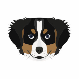 Illustration Bernese Mountain Dog Photo Sculpture Ornament