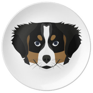 Illustration Bernese Mountain Dog Plate