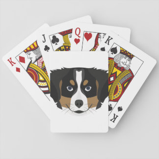 Illustration Bernese Mountain Dog Playing Cards