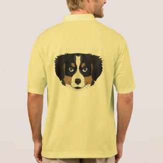 Illustration Bernese Mountain Dog Polo Shirt