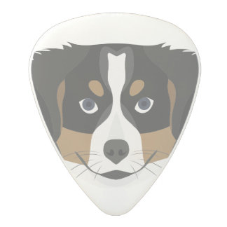 Illustration Bernese Mountain Dog Polycarbonate Guitar Pick