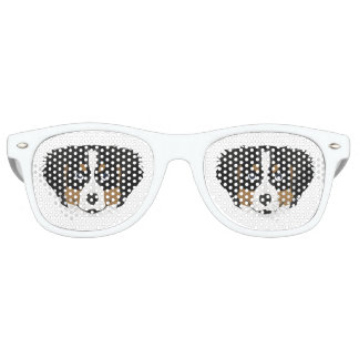 Illustration Bernese Mountain Dog Retro Sunglasses
